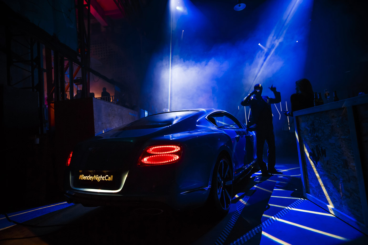 <p>Bentley Continental GT Speed launch event at the historic Farnborough wind tunnel.</p>