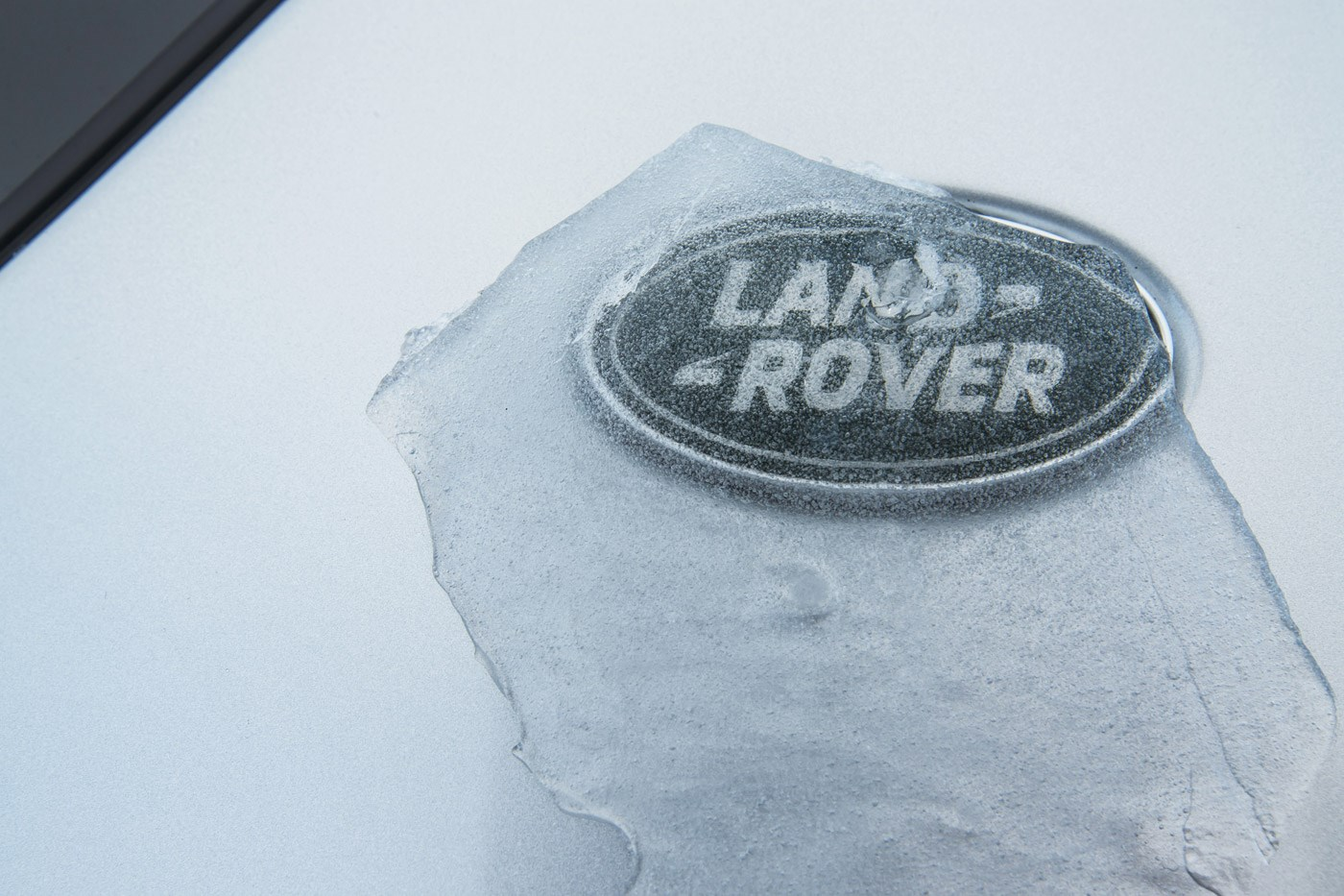 Icy Land Rover badge