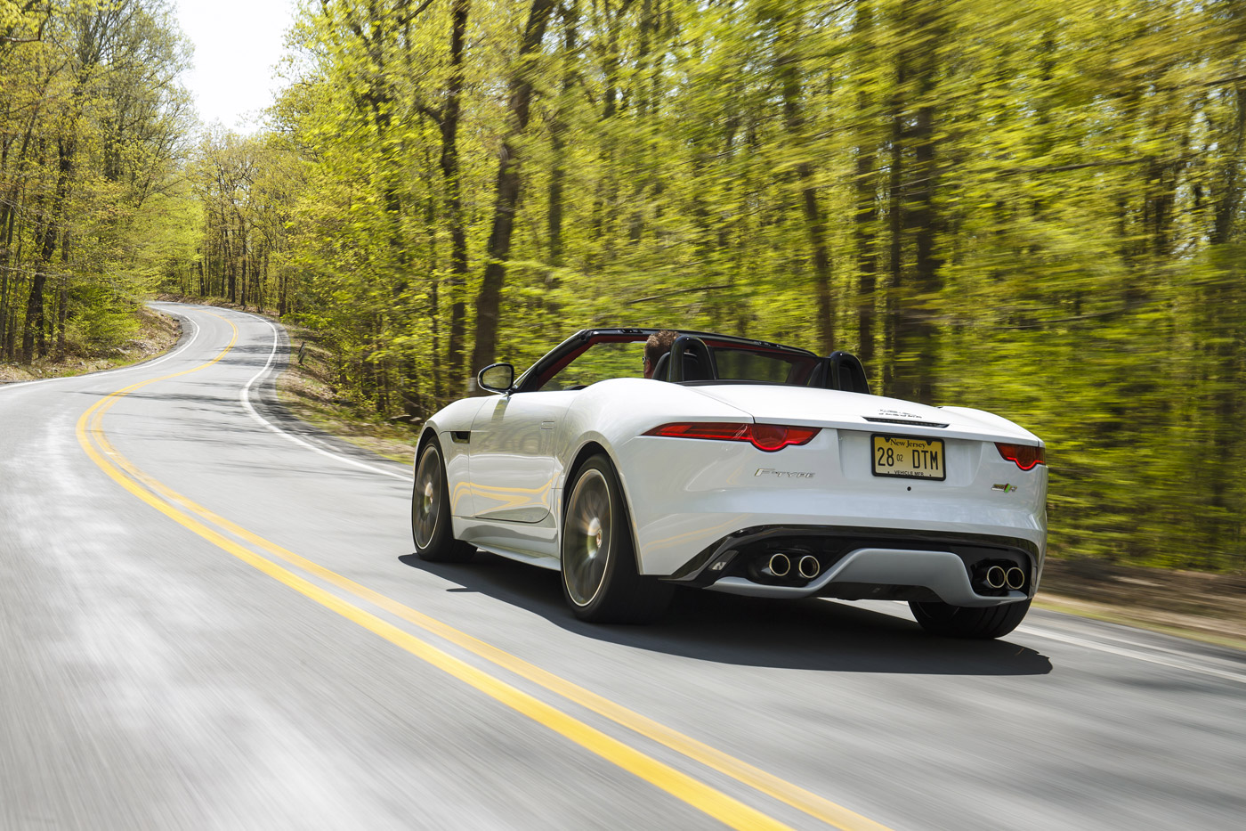 <p>Jaguar F-TYPE AWD on a twisty road in New York State.</p>
