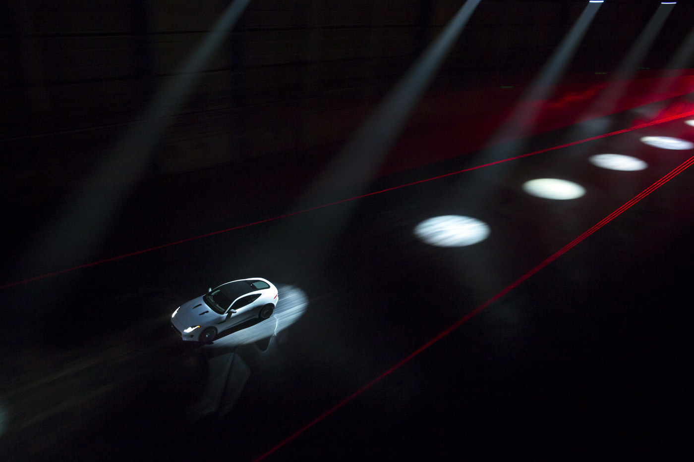 <p>Jaguar F-TYPE Coupé global reveal in the former Hughes Industries' aircraft hanger outside Los Angeles.</p>
