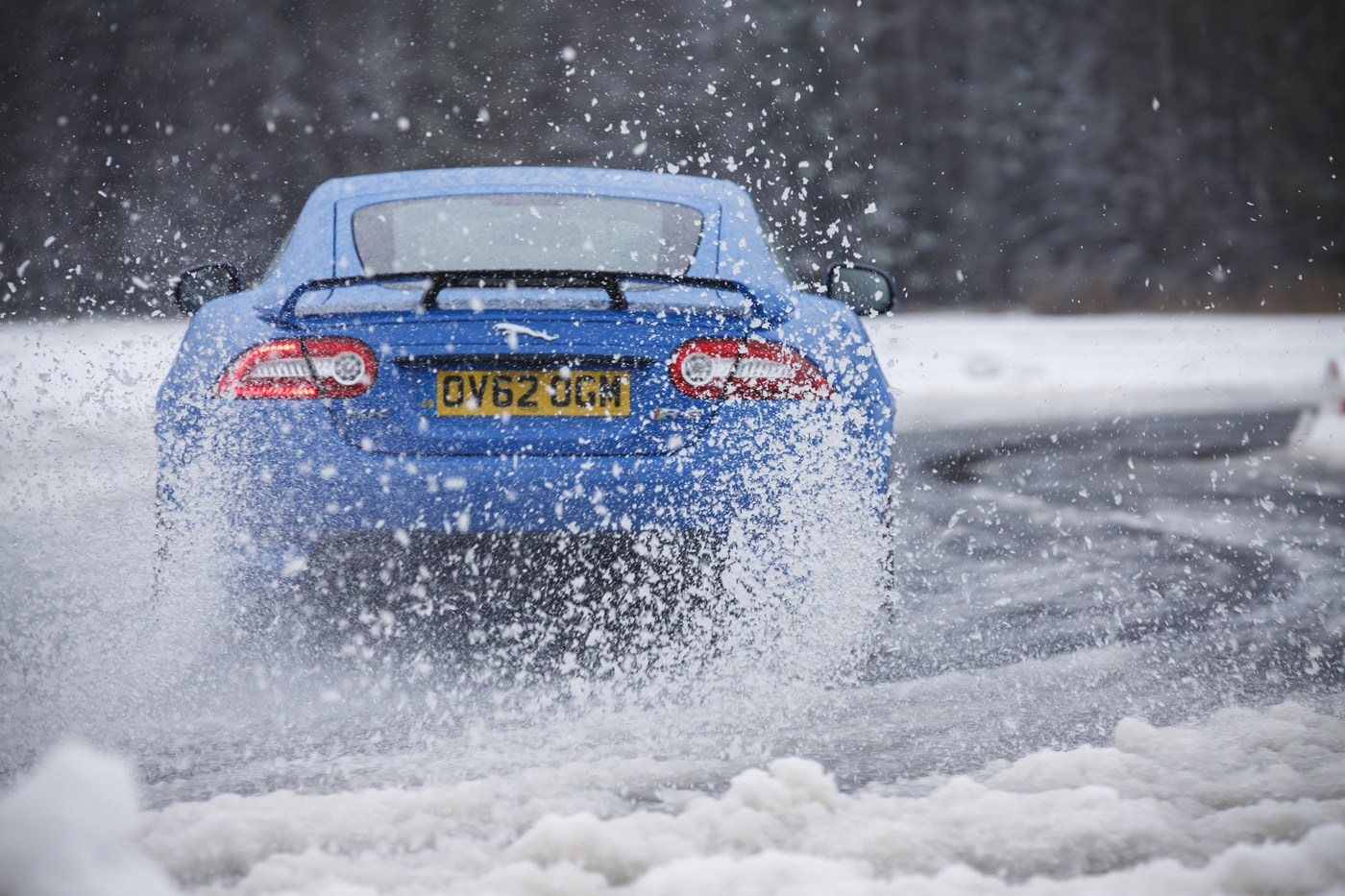 Jaguar XKR-S on ice