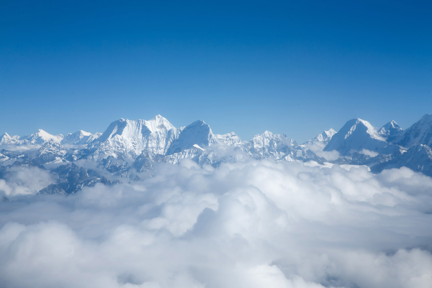 <p>The Himalayas from 20,000 feet.</p>