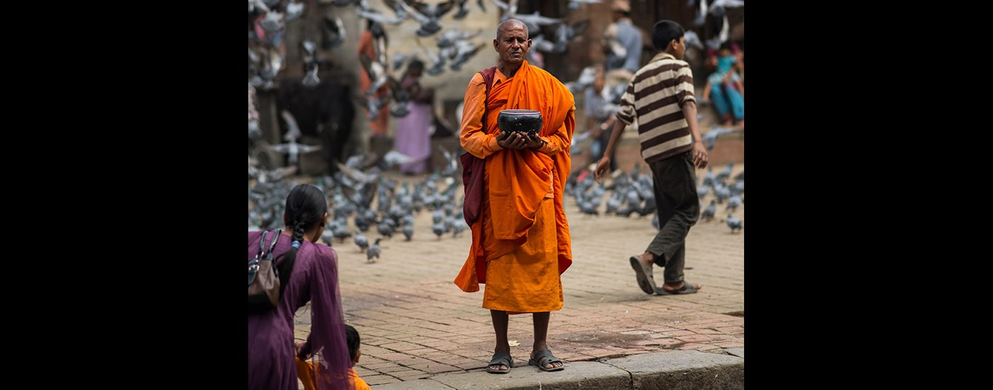 Holy man in Nepal
