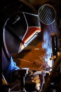 <p>Precision welding at BAE Systems.</p>