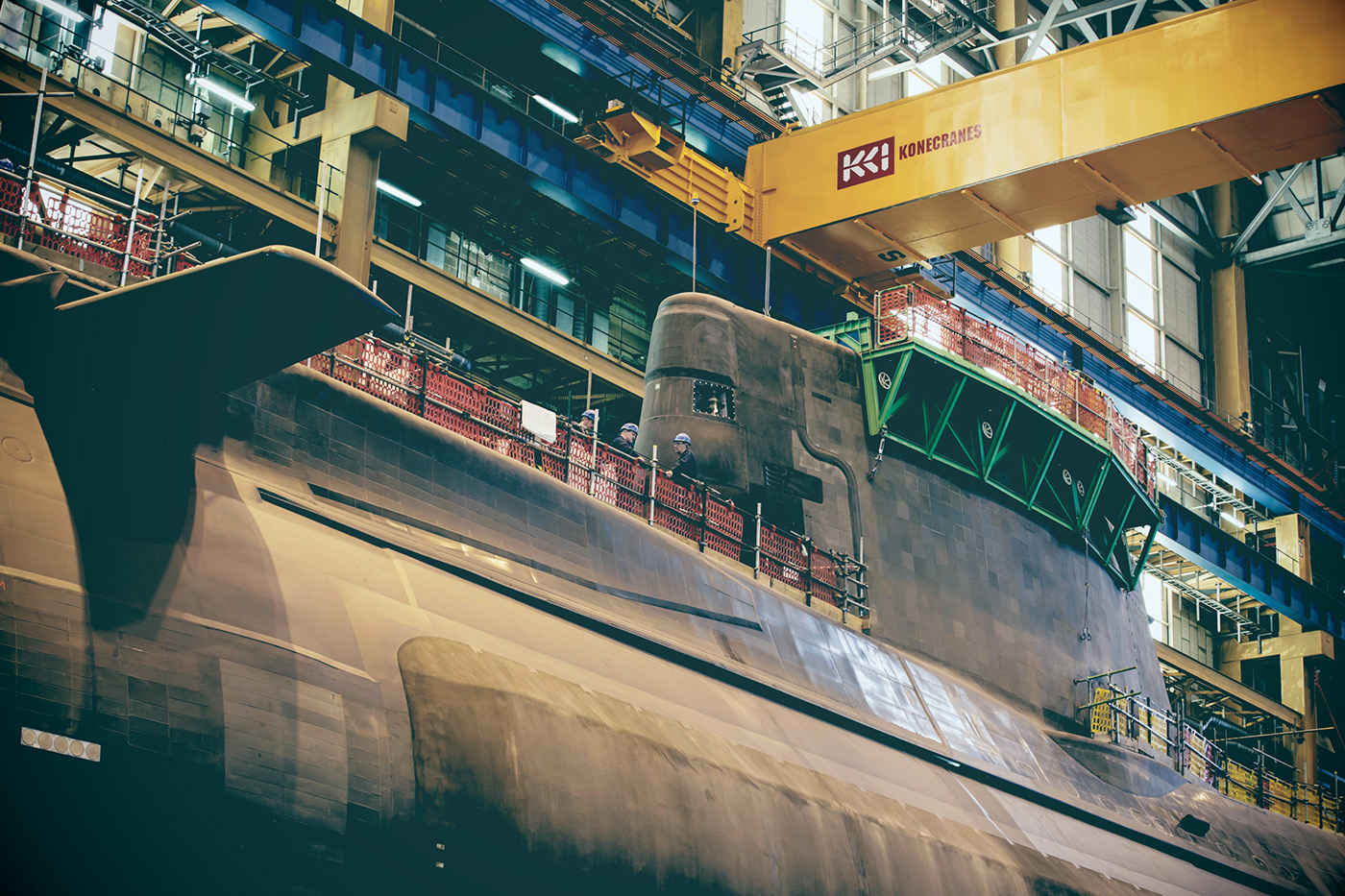 <p>Astute class submarine under construction at BAE Systems in Barrow in Furness.</p>