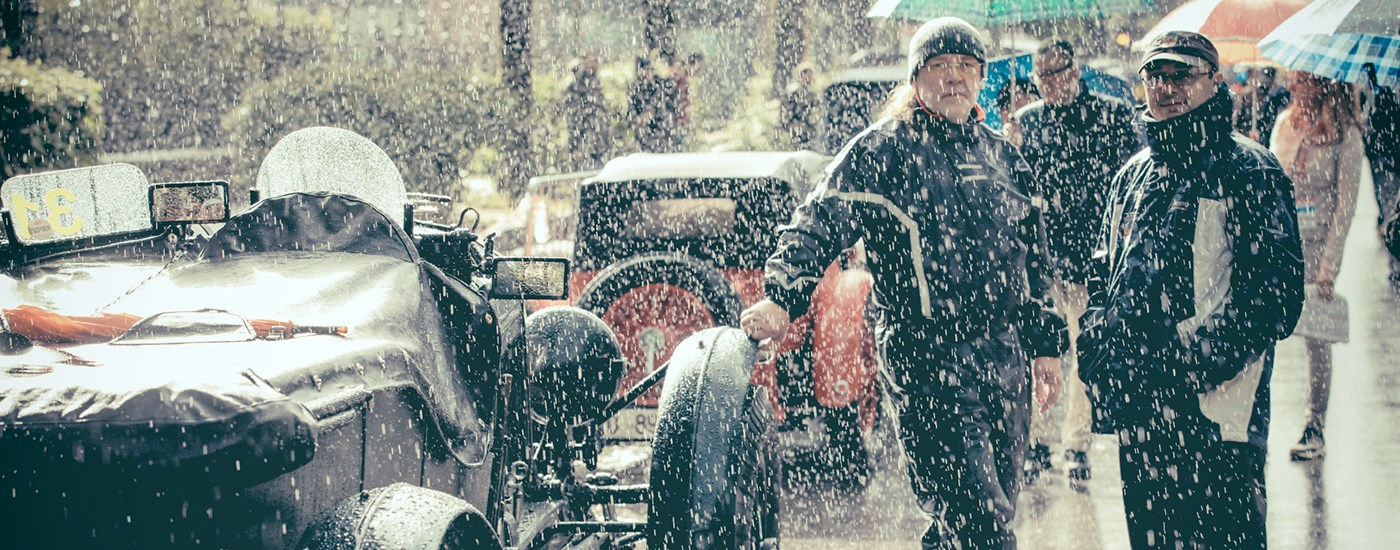 Bentley Blower Mille Miglia rain