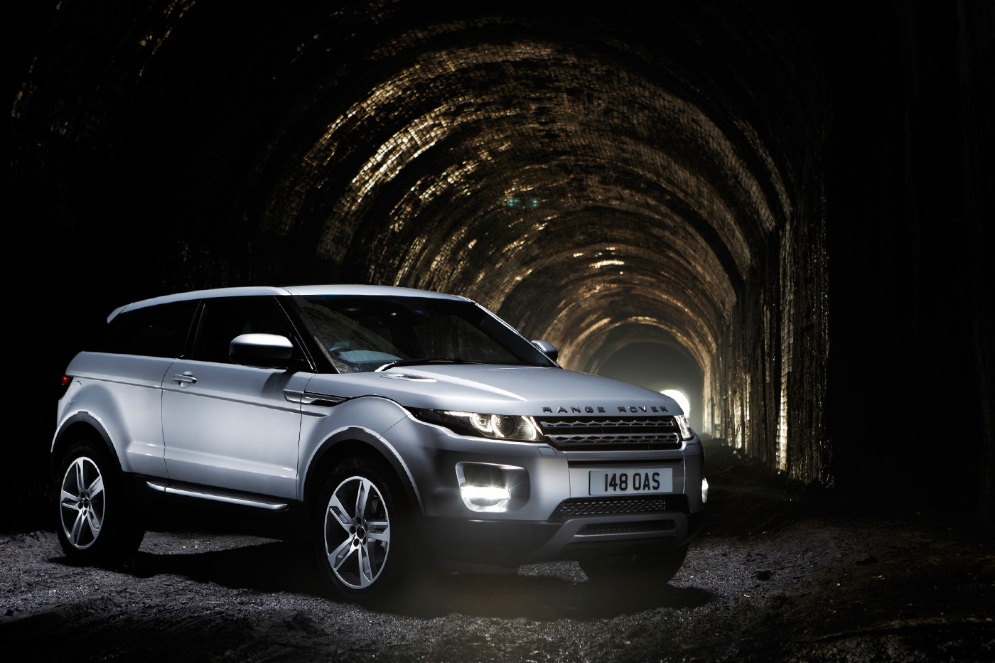 <p>Range Rover Evoque photographed in an abandoned railway tunnel under Liverpool.</p>