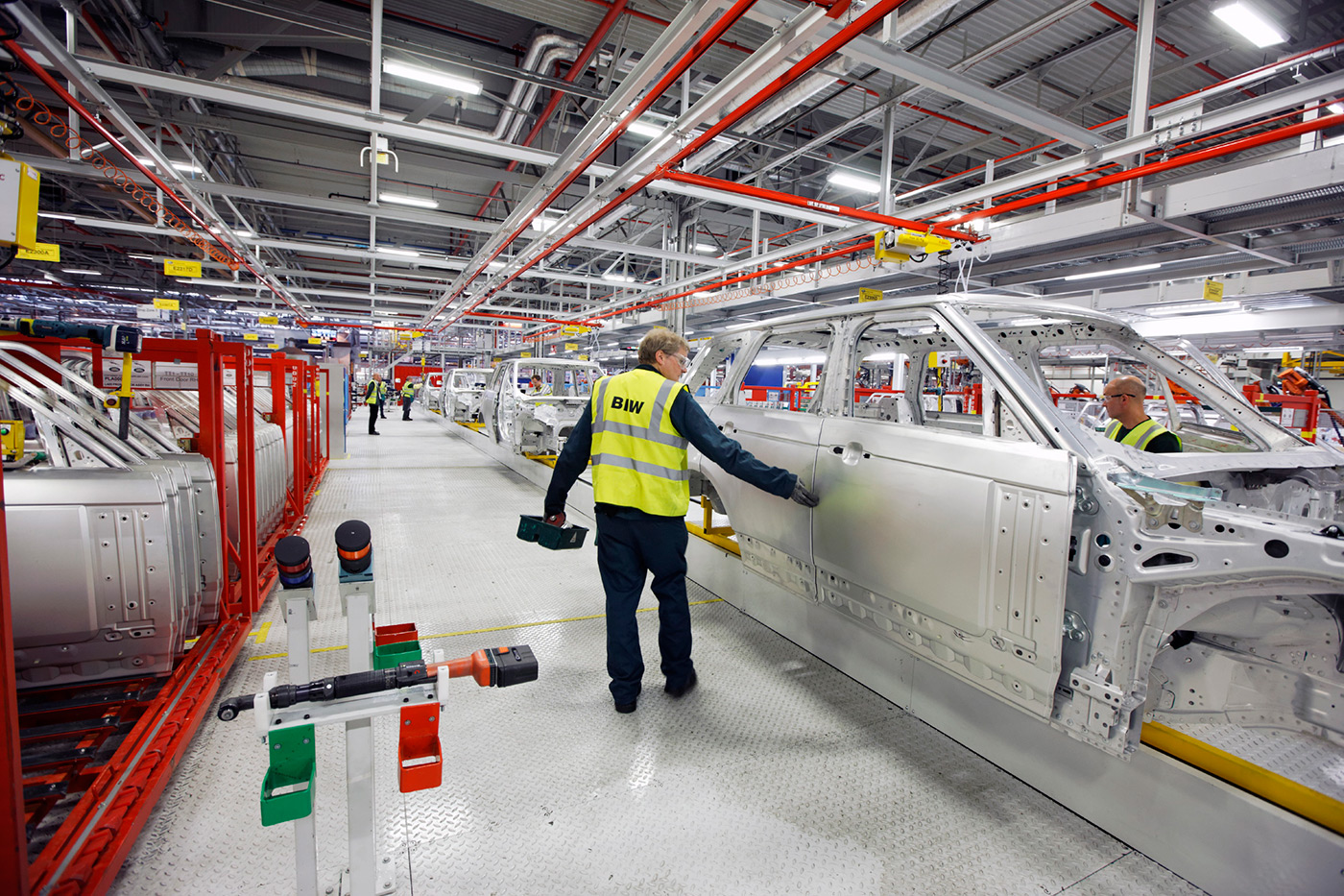 <p>Range Rover Body in White at Land Rover's Solihull manufacturing facility. </p>