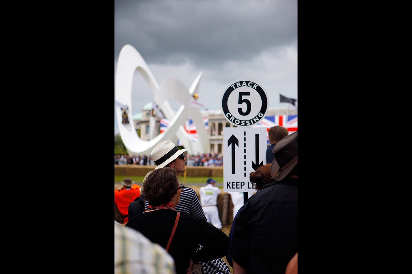 <p>The unique sculpture outside Goodwood House during the annual Festival of Speed.</p>