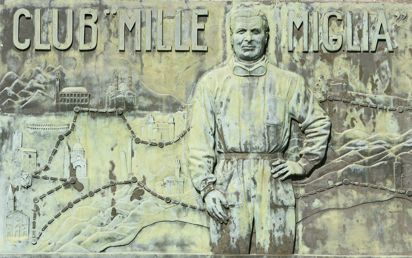 <p>Tribute to the Mille Miglia at the top of the Passo de Raticosa.</p>