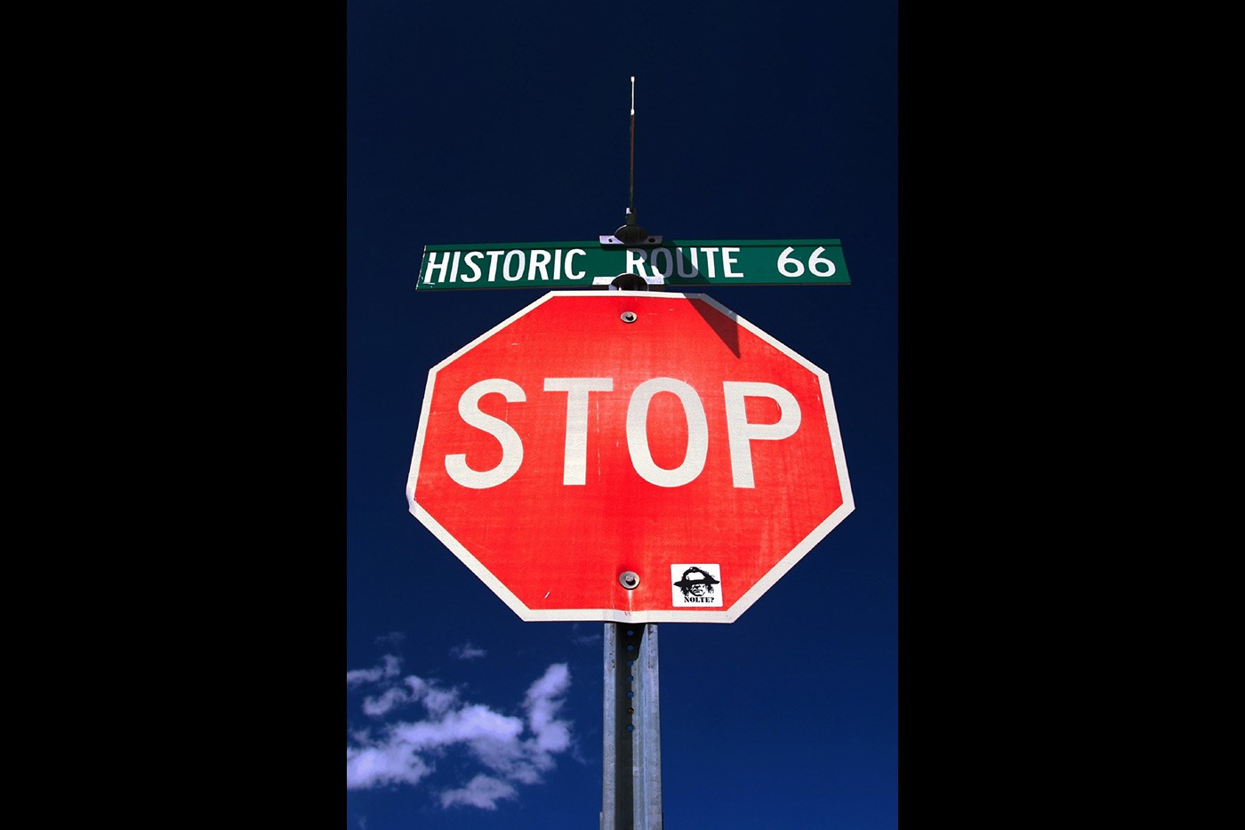 <p>Historic Route 66 ahead.</p>