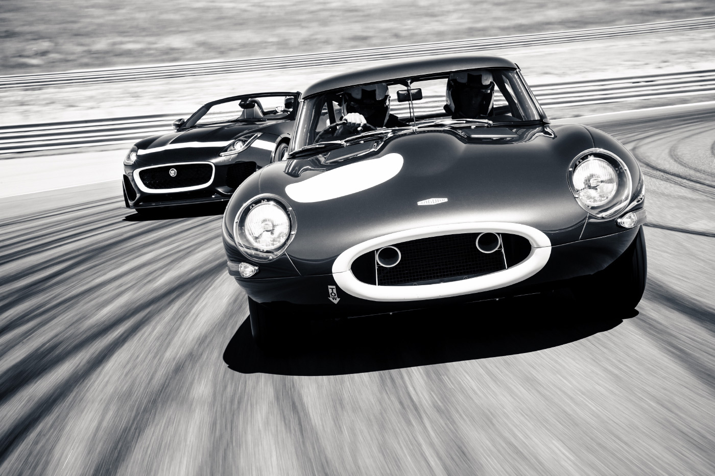<p>Jaguar's Lightweight E-TYPE leads Project 7 at the Navarra Circuit in Northern Spain</p>