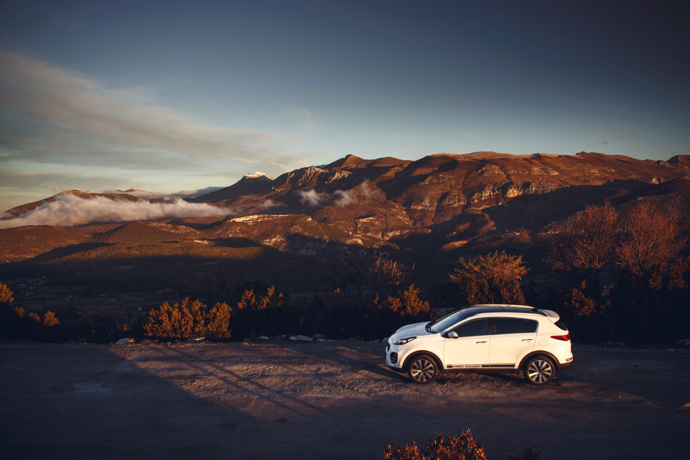 <p>The 2016 Kia Sportage First Edition photographed in the South of France.</p>