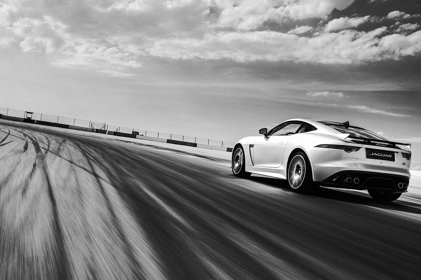 F-TYPE SVR Black and White